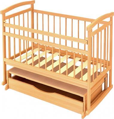 Детская кроватка Бэби Бум Аленка-3 (Бук) - крышка над ящиком не предусмотрена