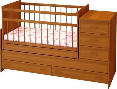 Детская кроватка Бэби Бум Варвара (орех) - общий вид