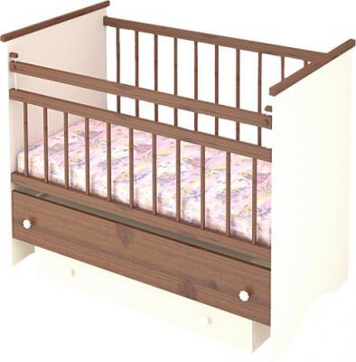 Детская кроватка Бэби Бум Вероника (Орех) - общий вид