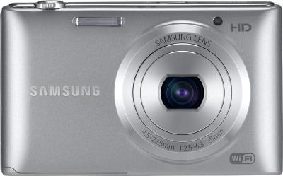 Компактный фотоаппарат Samsung ST150F Silver (EC-ST150FBPSRU) - вид спереди