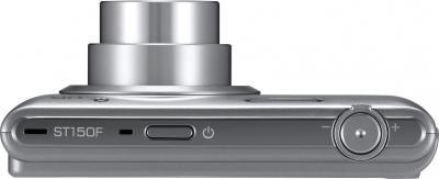 Компактный фотоаппарат Samsung ST150F Silver (EC-ST150FBPSRU) - вид сверху