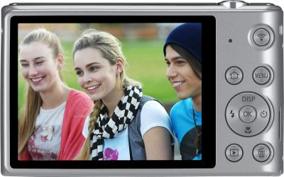 Компактный фотоаппарат Samsung ST150F Silver (EC-ST150FBPSRU) - вид сзади
