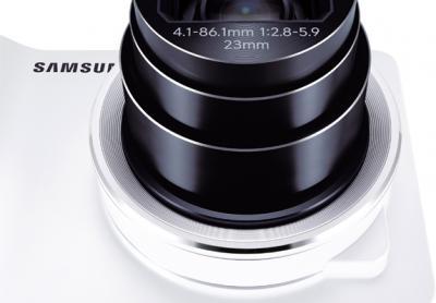 Компактный фотоаппарат Samsung Galaxy Camera EK-GC100 (белый) - общий вид