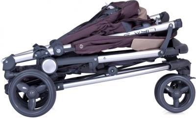 Детская прогулочная коляска Euro-Cart Lira 3 Carbon - в сложенном виде