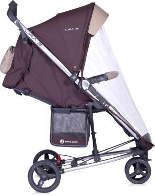 Детская прогулочная коляска Euro-Cart Lira 3 Chocolate - дождевик