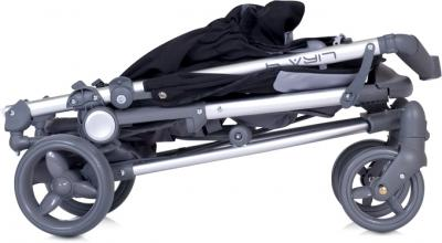 Детская прогулочная коляска Euro-Cart Lira 4 Violet - в сложенном виде