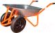 Тачка Altrad T-066/C 100L 2 колеса, полиуретан (с осью КОМ) -