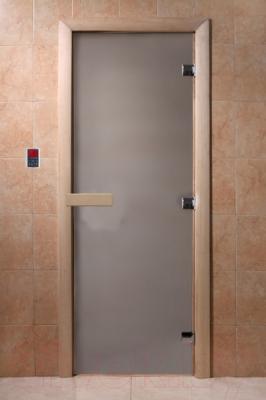 Стеклянная дверь для бани/сауны Doorwood 700x1900 (стекло матовое, осина)
