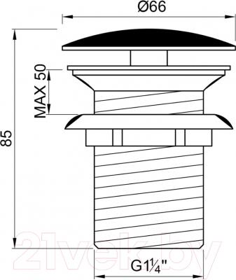 Выпуск (донный клапан) Steinberg Series 100.1693 (хром)