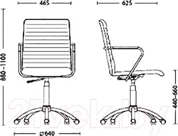 Кресло офисное Nowy Styl Task GTP Box (ECO-30) - размеры