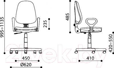 Кресло офисное Nowy Styl Prestige GTP New Q (C-4) - размеры