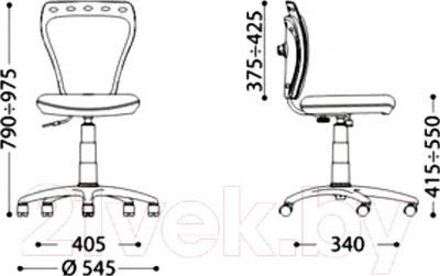 Кресло детское Новый Стиль Ministyle GTS Q (FJ-7) - размеры