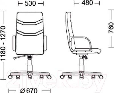 Кресло офисное Новый Стиль Minister (ECO-30) - размеры