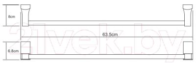 Держатель для полотенца Wasserkraft Leine K-5030