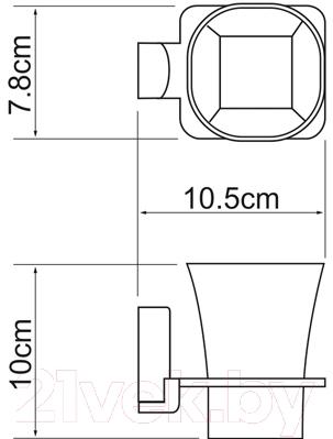 Стакан для зубных щеток Wasserkraft Leine K-5028