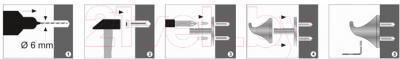 Крючок для ванны Wasserkraft Wern K-2523 - монтаж