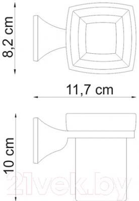 Стакан для зубных щеток Wasserkraft Wern K-2528