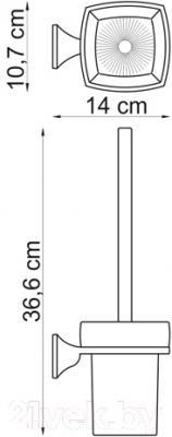 Ершик для унитаза Wasserkraft Wern K-2527