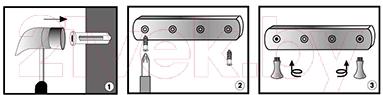 Вешалка для ванны Wasserkraft K-1074 - монтаж