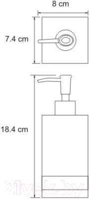 Дозатор жидкого мыла Wasserkraft Inn K-4399