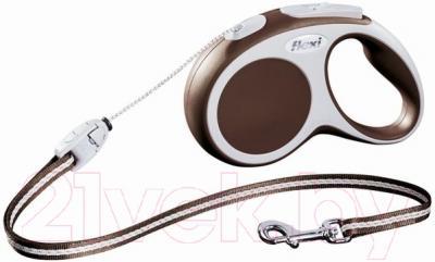 Поводок-рулетка Flexi Vario FLX358 (S, коричневый)