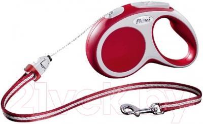 Поводок-рулетка Flexi Vario FLX353 (S, красный)