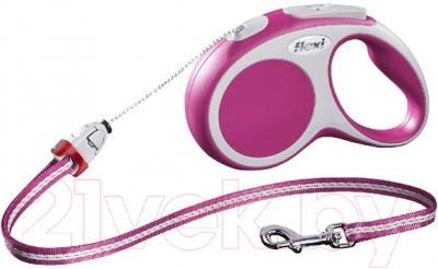 Поводок-рулетка Flexi Vario FLX354 (S, розовый)