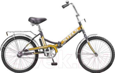 Велосипед Stels Pilot 310 2016 (черный/оранжевый)