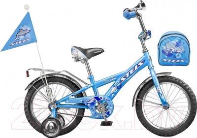 Детский велосипед Stels Dolphin 2016 (16, белый/синий)
