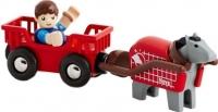 Элемент железной дороги Brio  Лошадка с тележкой и человечком 33794 -
