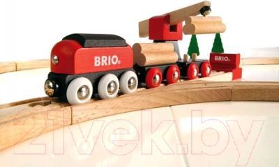 Железная дорога детская Brio Деревянная железная дорога с краном 33010