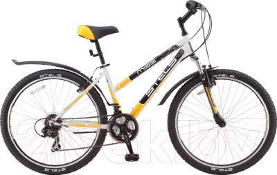 Велосипед Stels Miss 5000 V 2016 (16, белый/желтый/черный)
