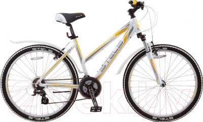 Велосипед Stels Miss 6300 V 2016 (15, белый/серый/желтый)