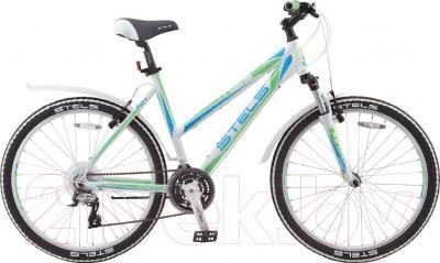 Велосипед Stels Miss 6500 V 2016 (17, белый/салатовый/голубой)