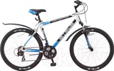 Велосипед Stels Navigator 600 V 2016 (21, белый/черный/синий)