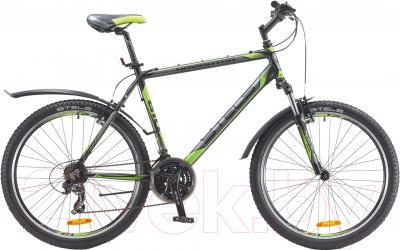 Велосипед Stels Navigator 610 V 2016 (17, черный/серый/салатовый)