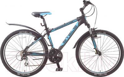 Велосипед Stels Navigator 650 V 2016 (19, черный/серебристый/голубой)