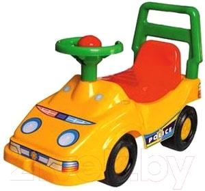 Каталка детская ТехноК Автомобиль для прогулок 1196 (желтый)