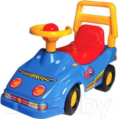Каталка детская ТехноК Автомобиль для прогулок 1196 (синий)