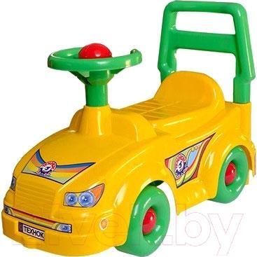 Каталка детская ТехноК Автомобиль для прогулок 2483 (желтый)