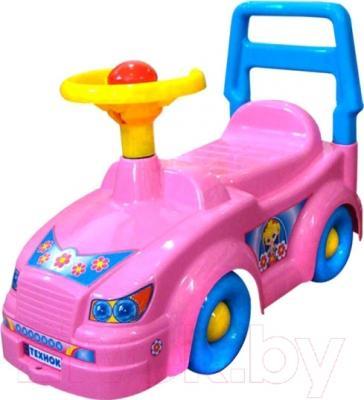 Каталка детская ТехноК Автомобиль для прогулок 2483 (розовый)