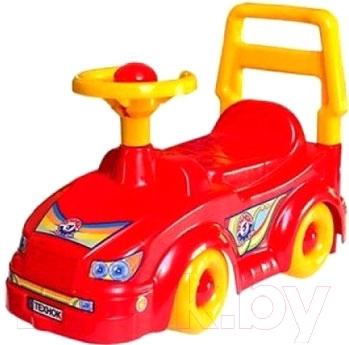Каталка детская ТехноК Автомобиль для прогулок 2483 (красный)
