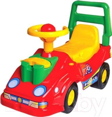 Каталка детская ТехноК Автомобиль для прогулок 2490 (красный)
