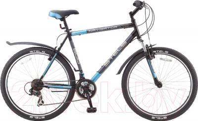 Велосипед Stels Navigator 500 V 2016 (19, черный/темно-серый/голубой)