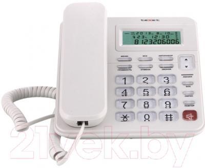 Проводной телефон TeXet ТХ-254 (светло-серый)