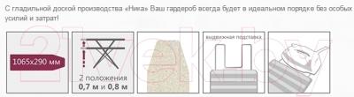 Гладильная доска Ника Лина 2 / ДЛ2 (сирень)