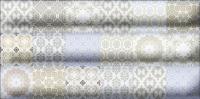 Декоративная плитка для ванной Уралкерамика Фрейя ВС9ФР003 (249x500, белый/синий) -
