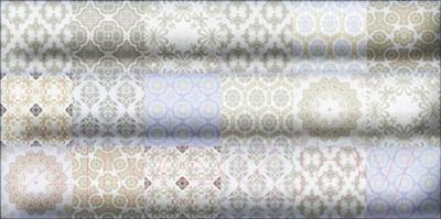Декоративная плитка для ванной Уралкерамика Фрейя ВС9ФР003 (249x500, белый/синий)
