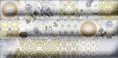 Декоративная плитка для ванной Уралкерамика Фрейя ВС9ФР303 (249x500, синий/синий)