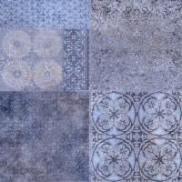 Плитка для пола ванной Уралкерамика Фрейя ПГ3ФР303 (418x418, синий/синий) -